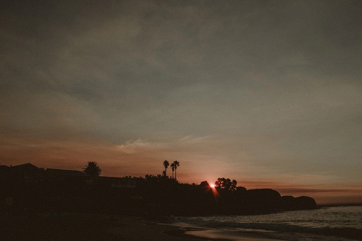 sunset clifton beach