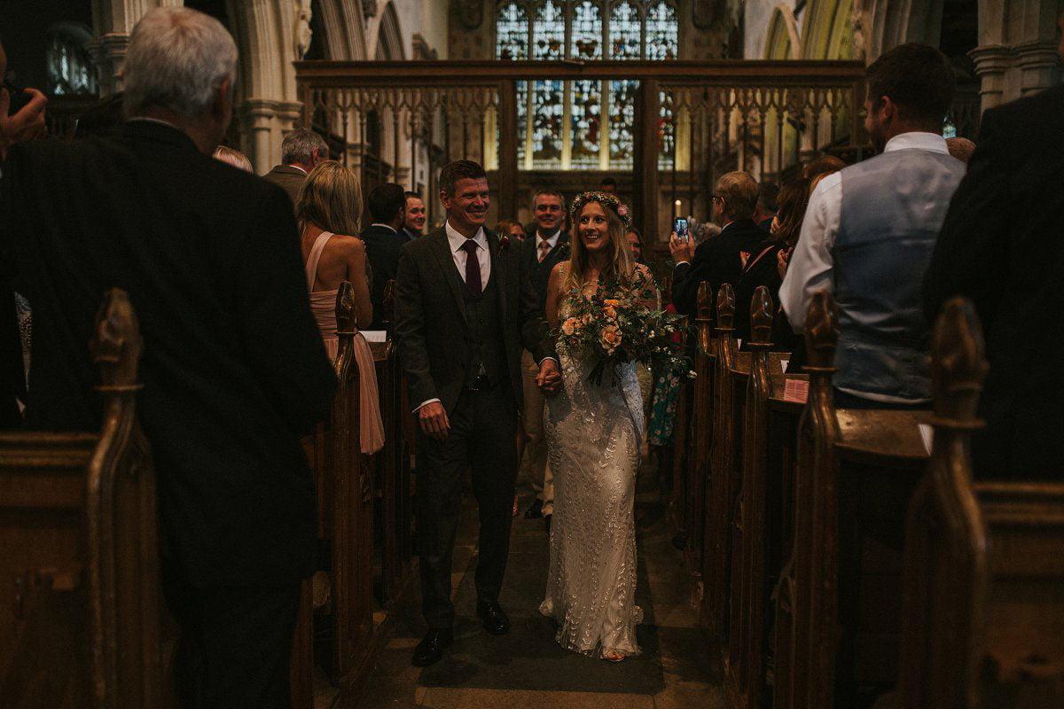 boho bride church