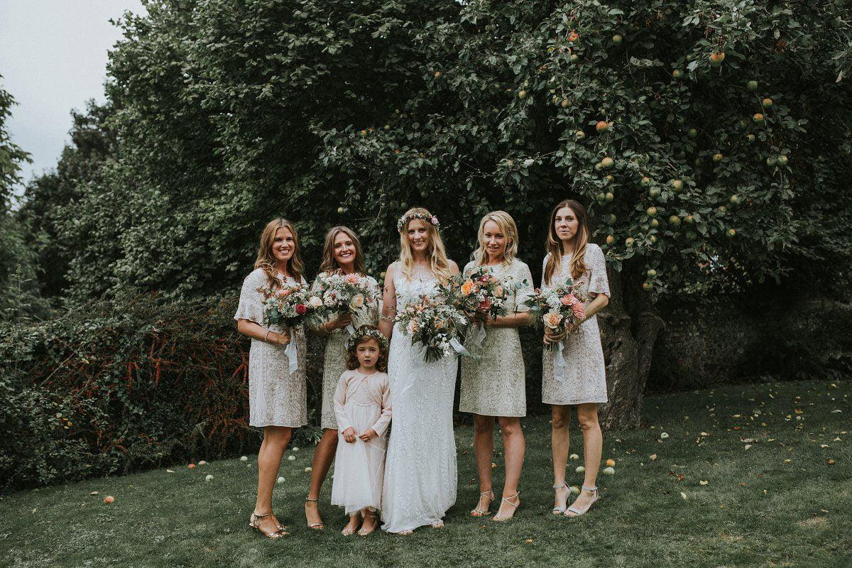 boho bridesmaids brides