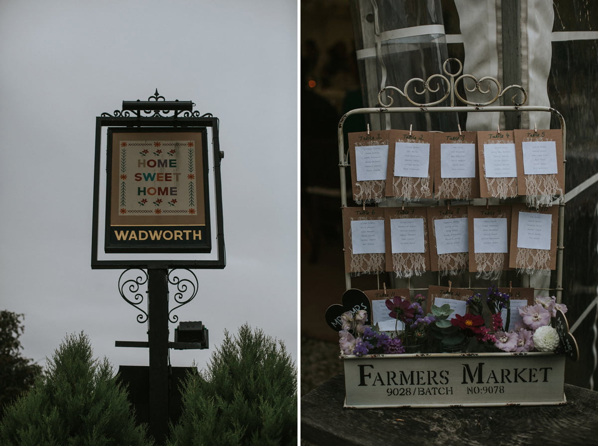rustic pub wedding inspiration