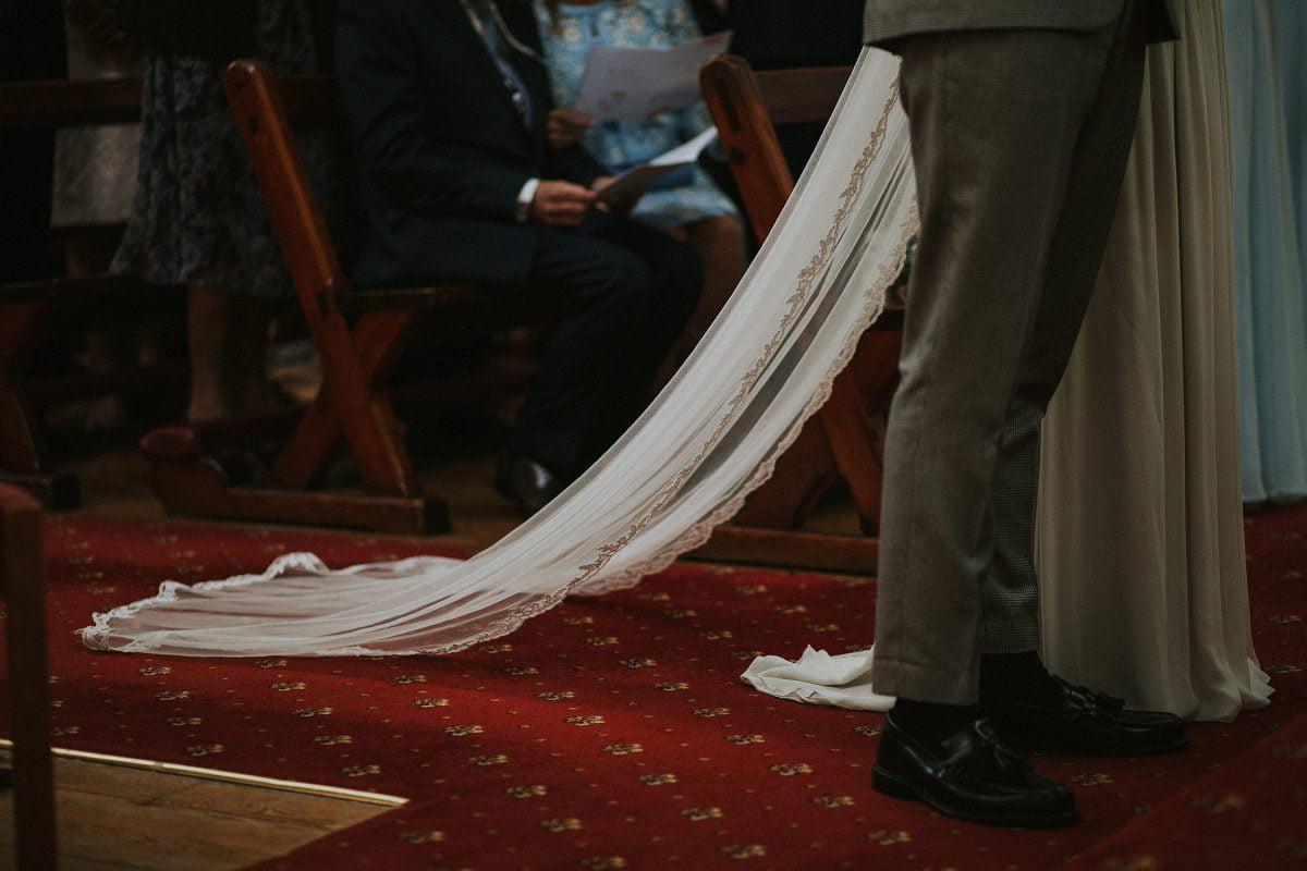 vintage bride veil style
