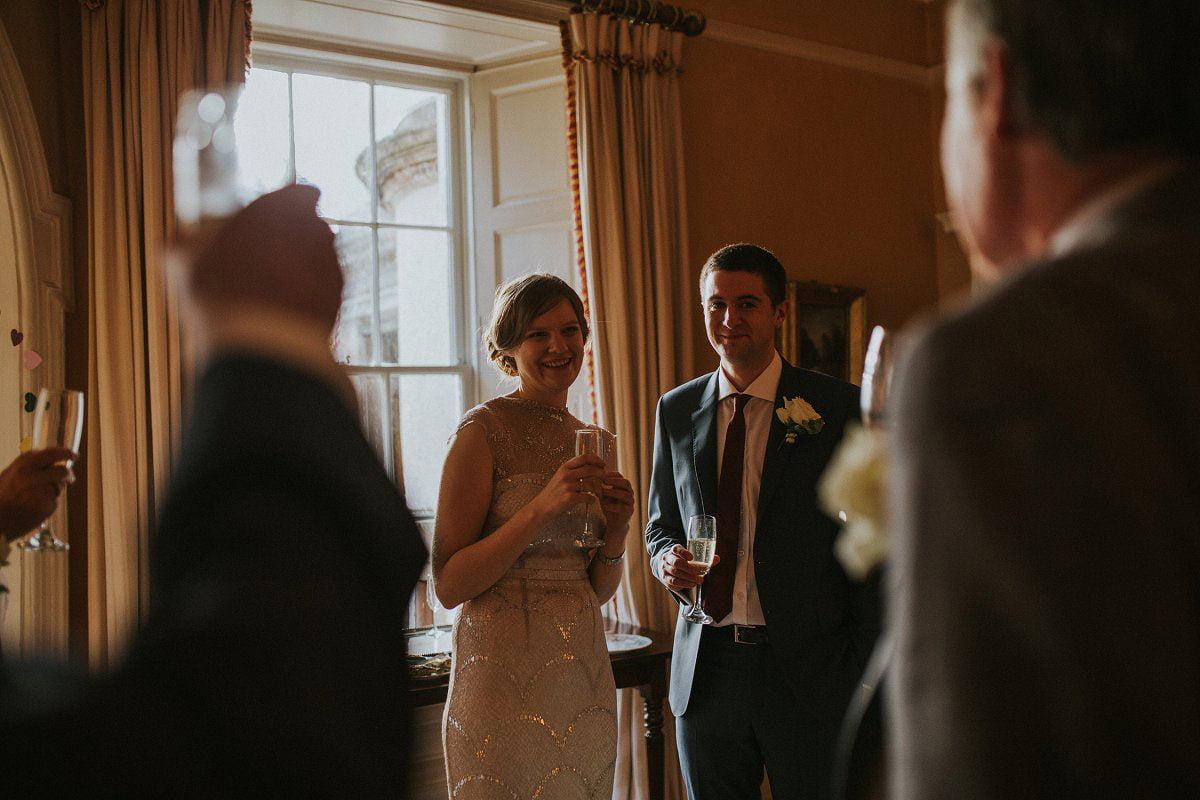 happy couple wedding speeches