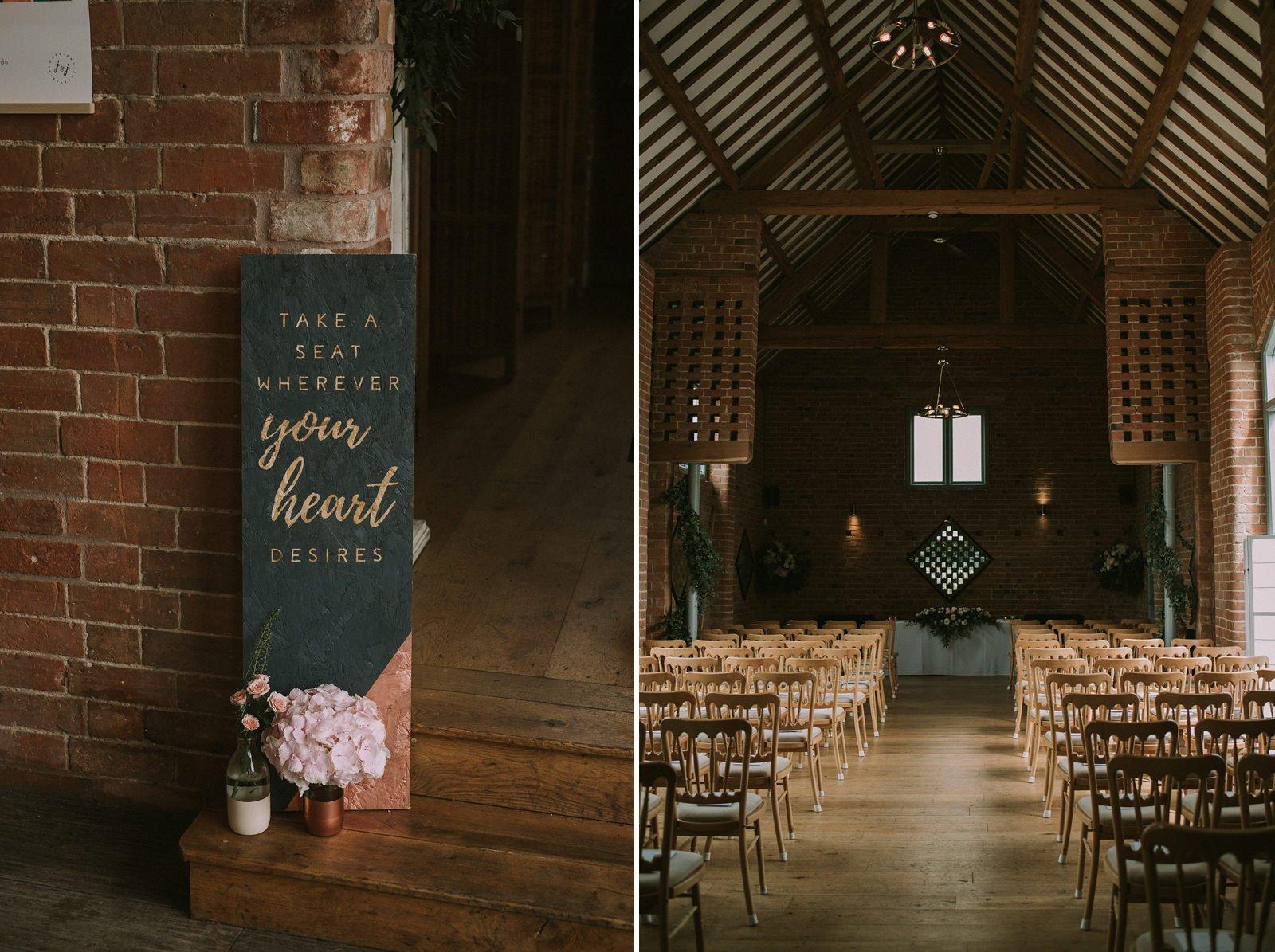 creative wedding swallows nest barn