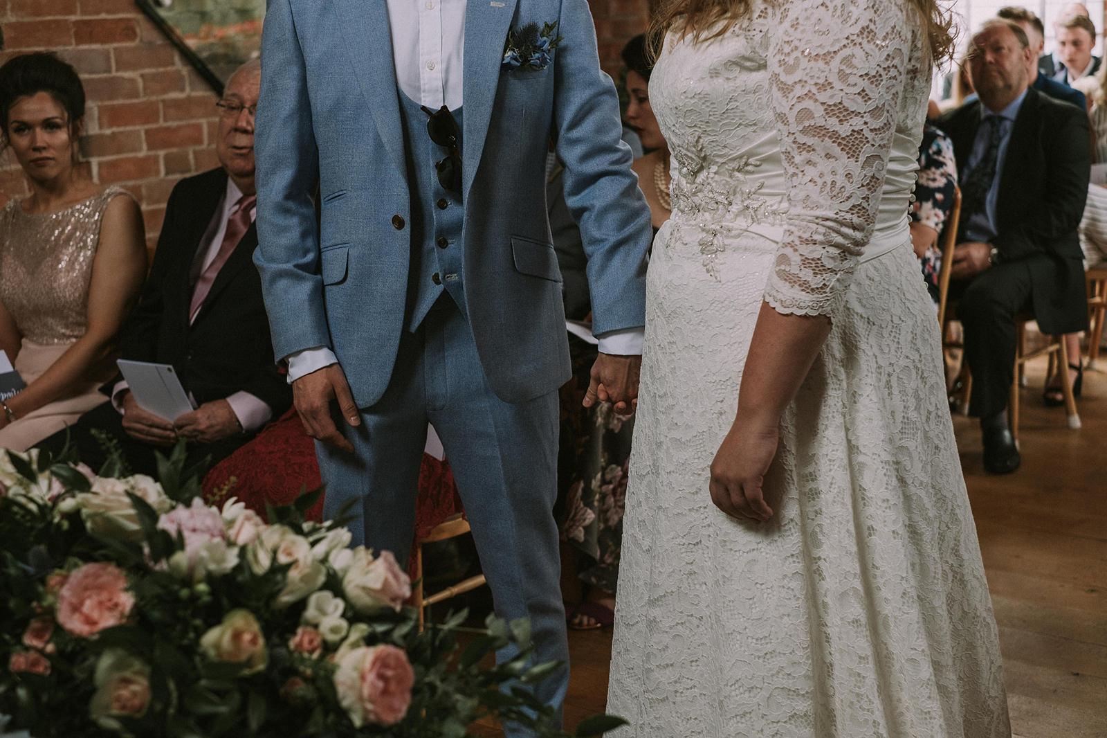 warwickshire swallows nest barn wedding