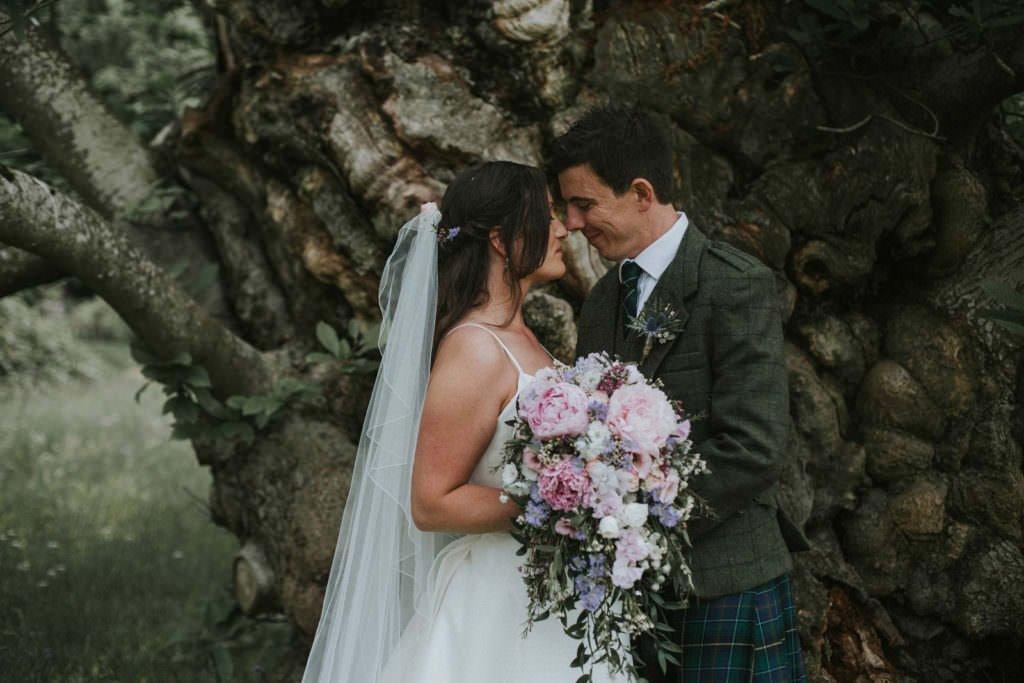 bride groom myres castle