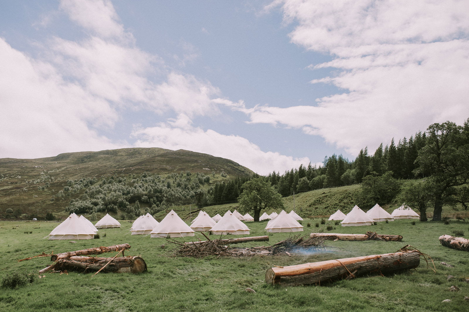rustic scottish highlands wedding