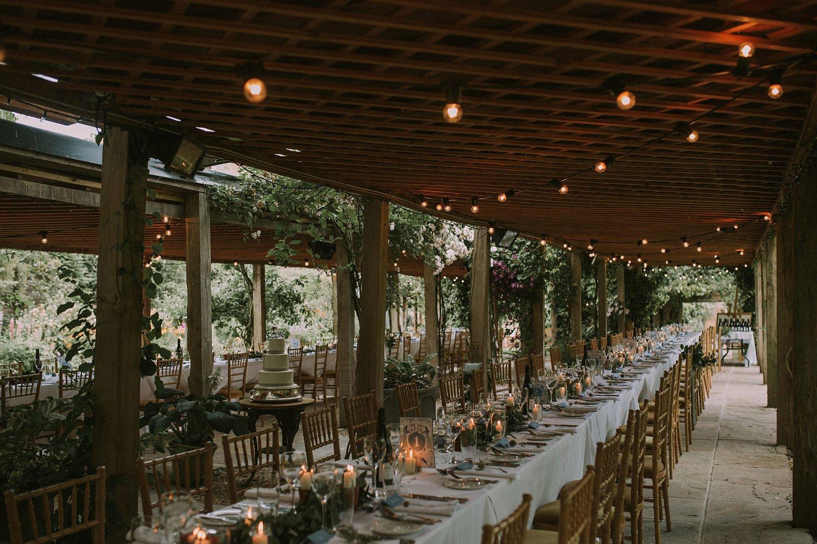 outdoor dining wedding