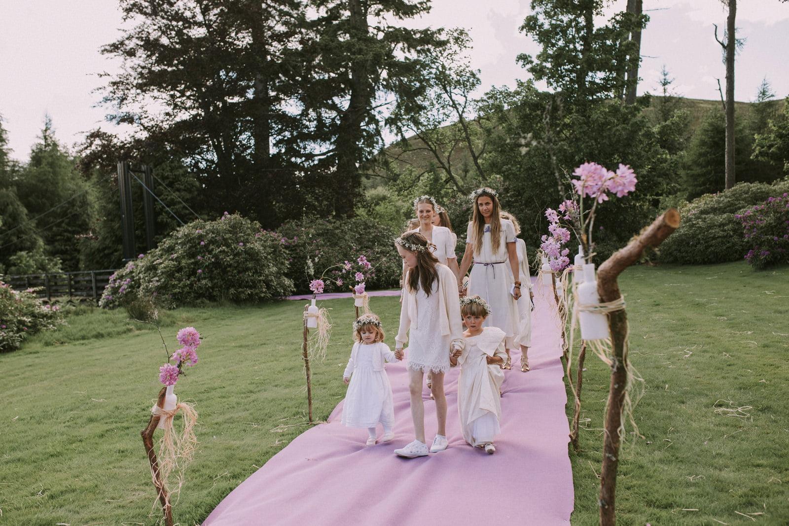boho bridesmaids scotland