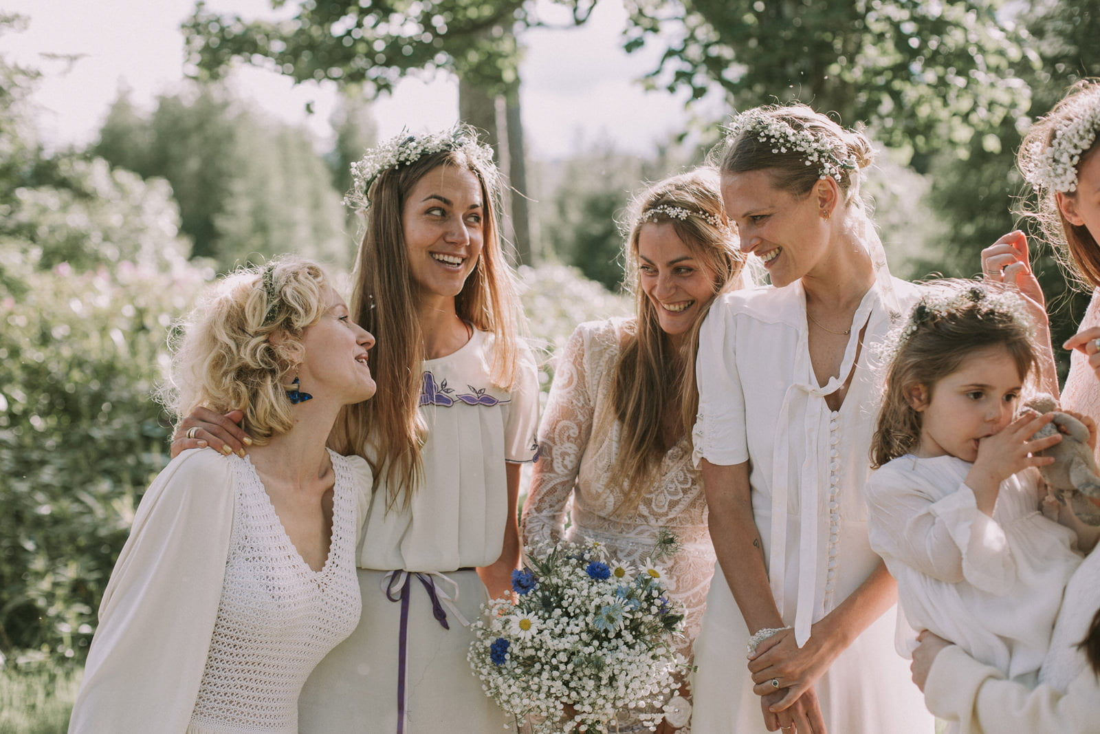 boho bridesmaids wedding