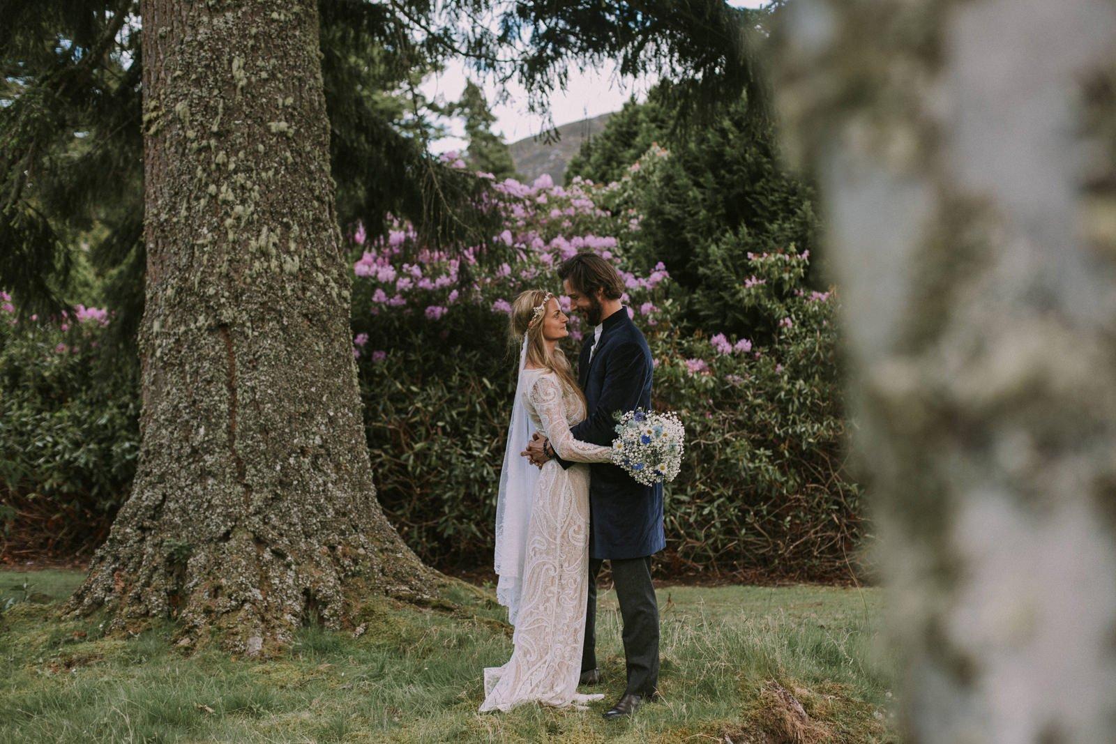 bohemian wedding scottish highlands