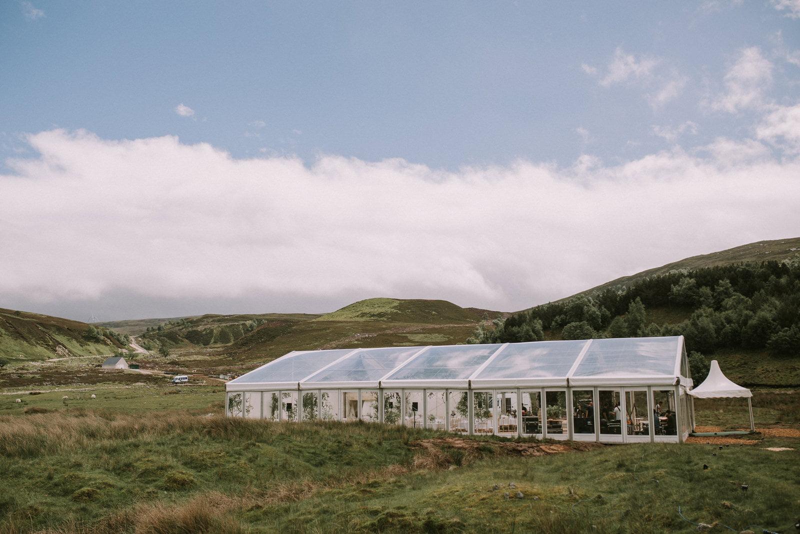 glass marquee wedding scotland