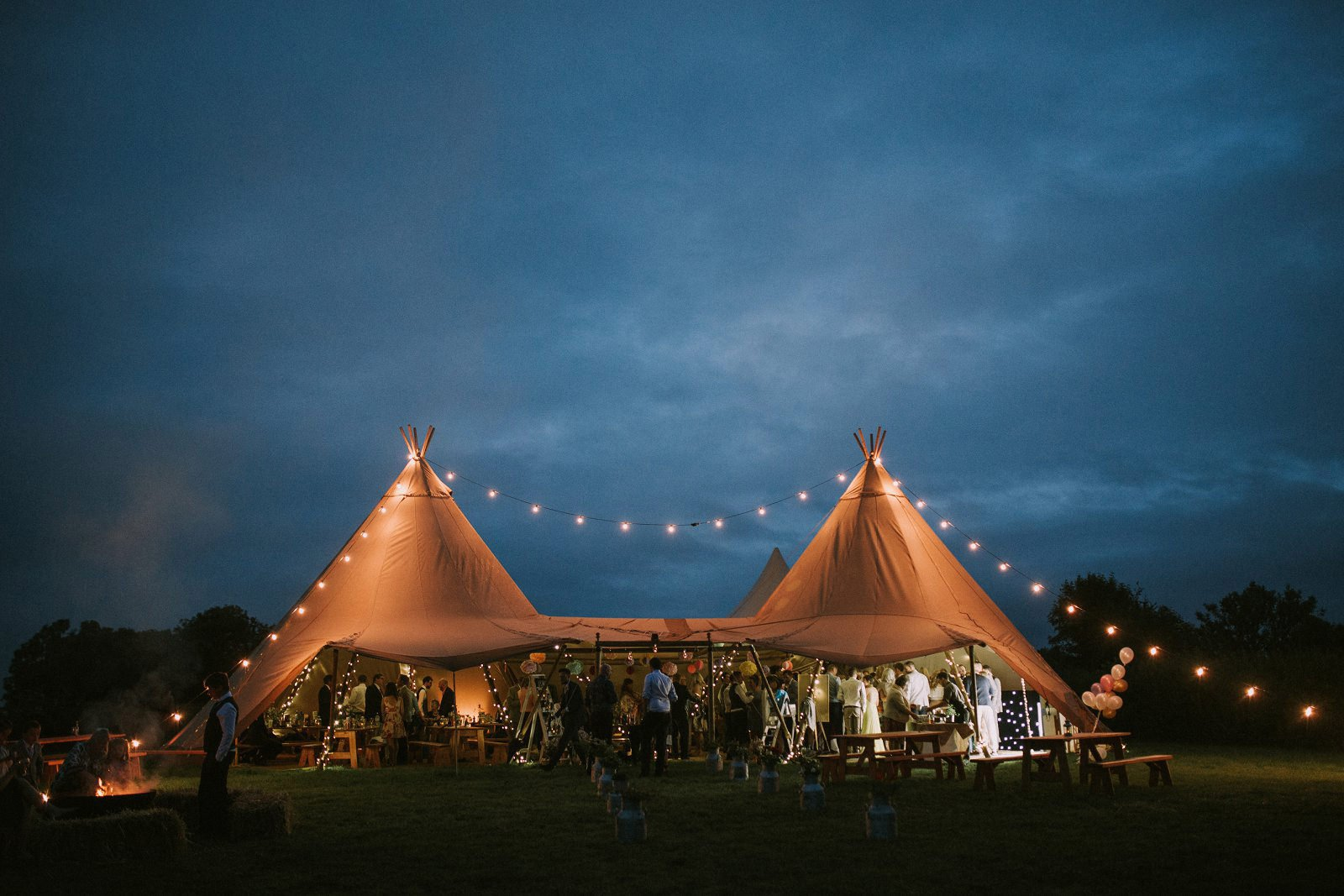 tipi wedding somerset