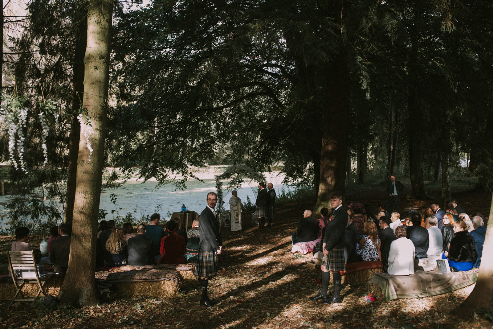 fernie castle woodland wedding