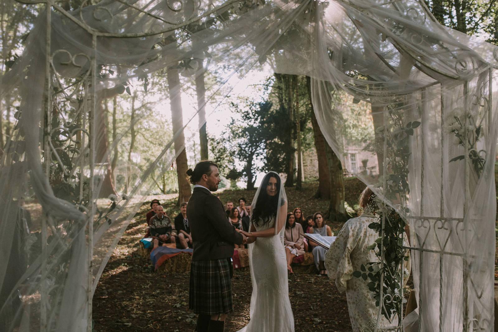 boho bride woodland wedding
