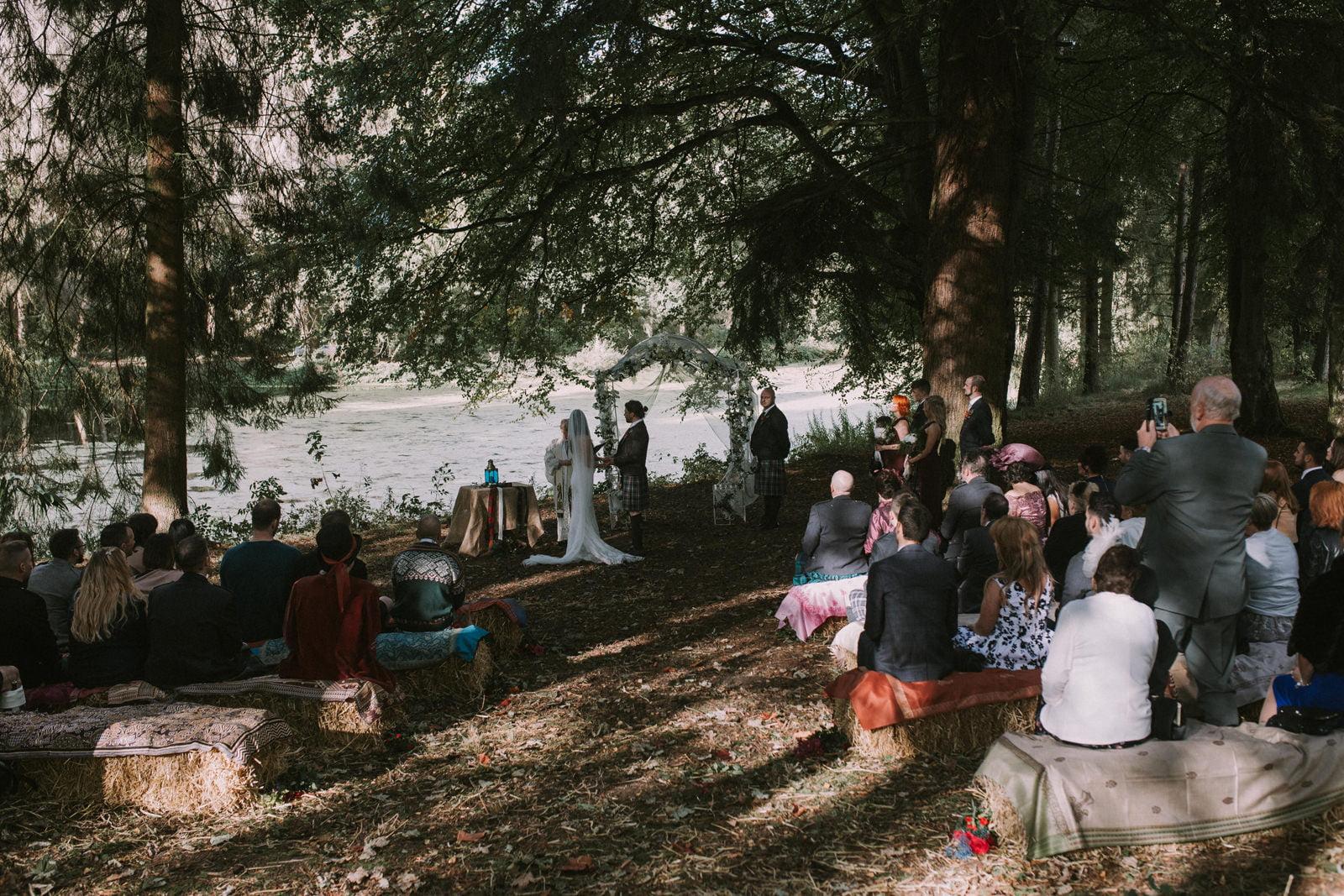 forest lochside wedding