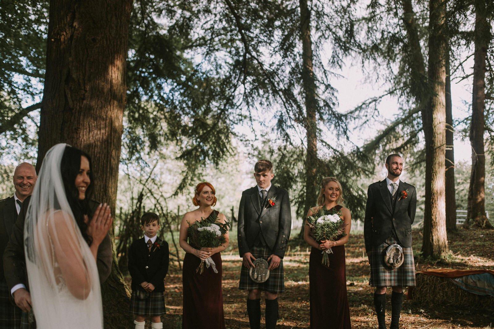 fernie castle woodland wedding photography