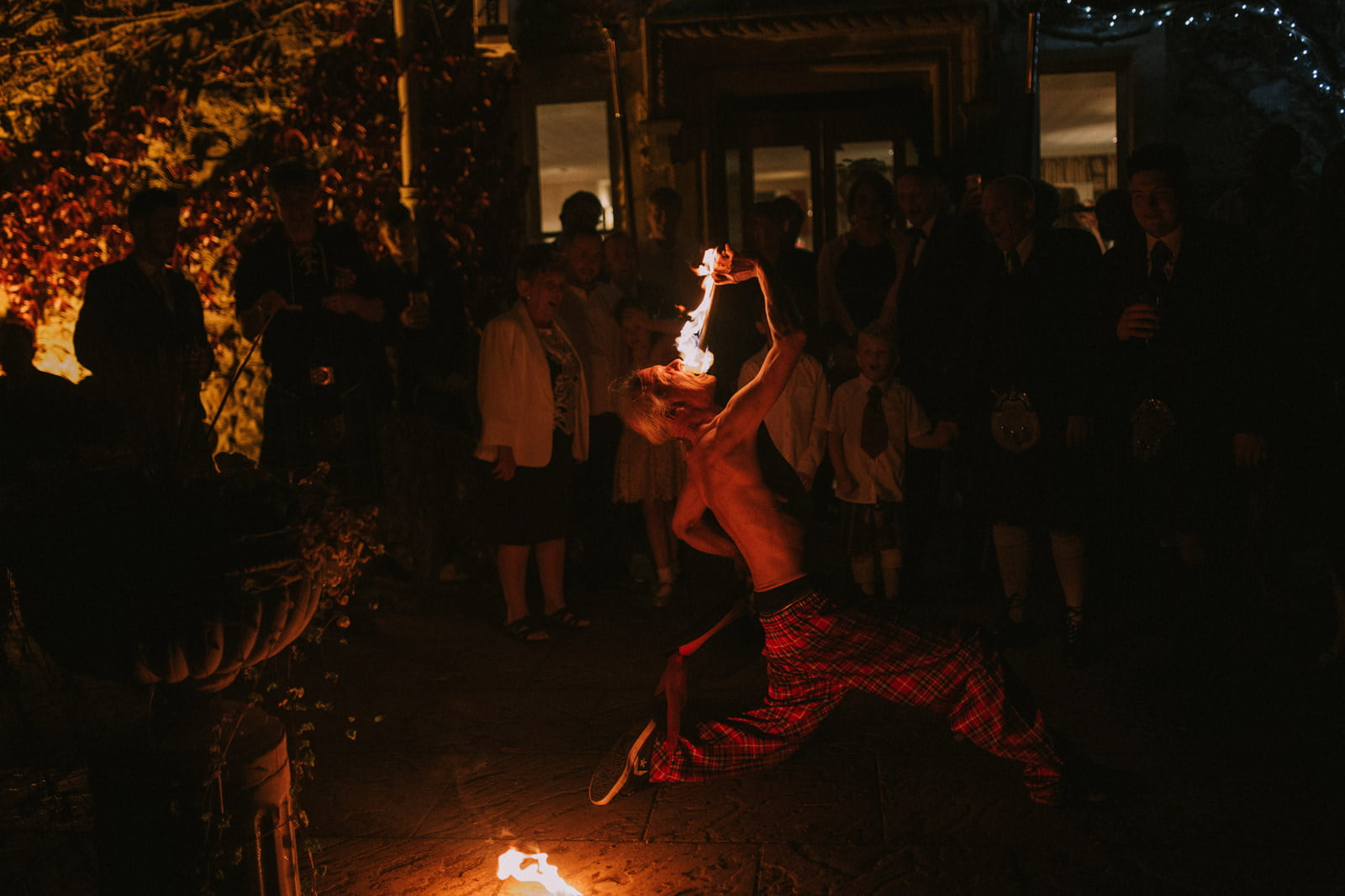 fire dance wedding