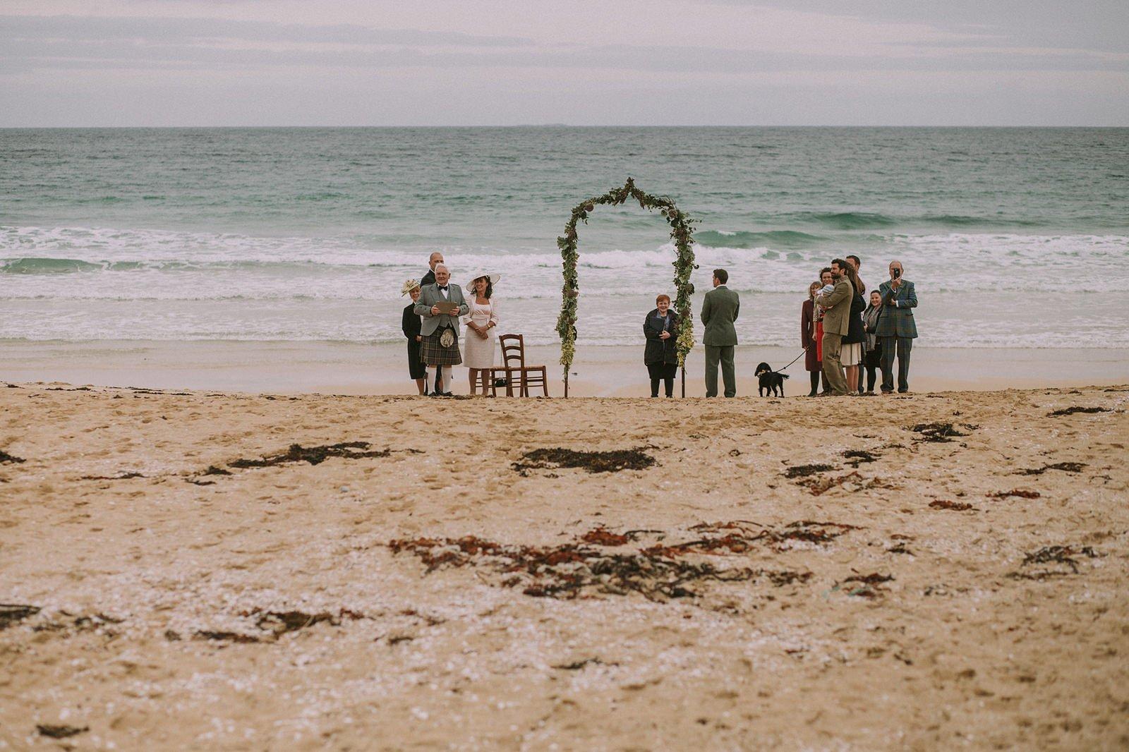 scarista beach wedding harris