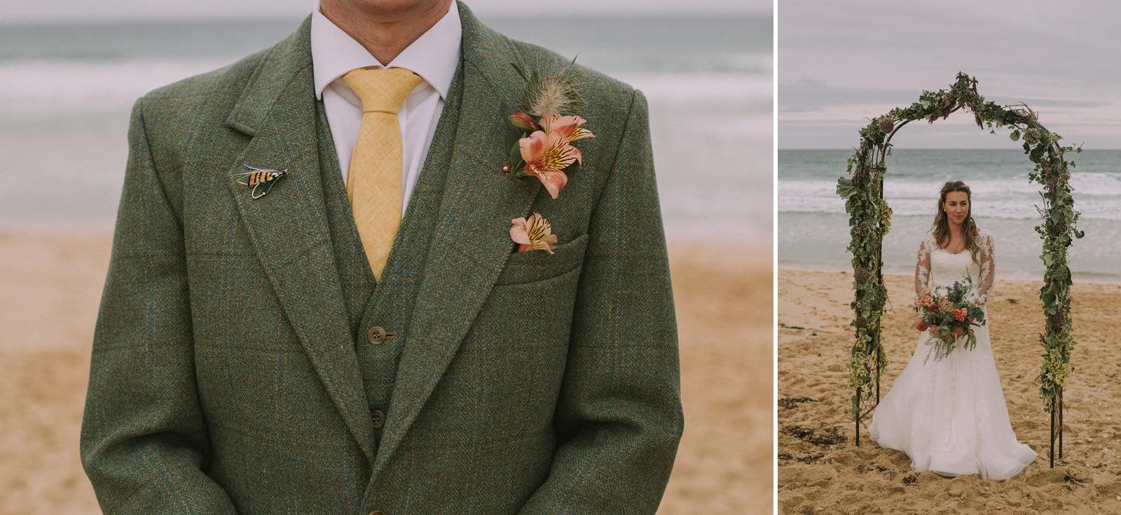 isle of harris rustic wedding