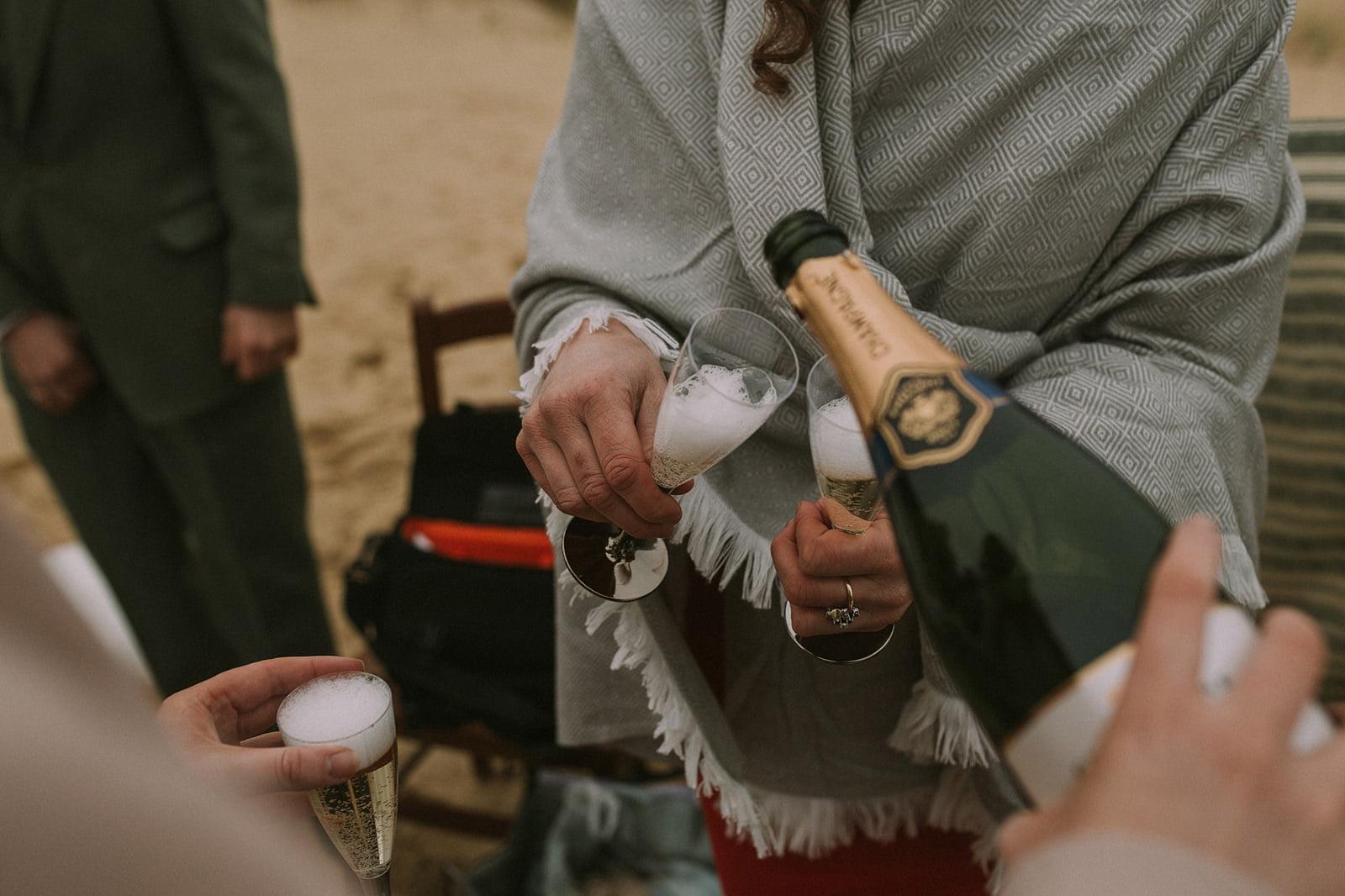 beach drinks reception wedding scotland