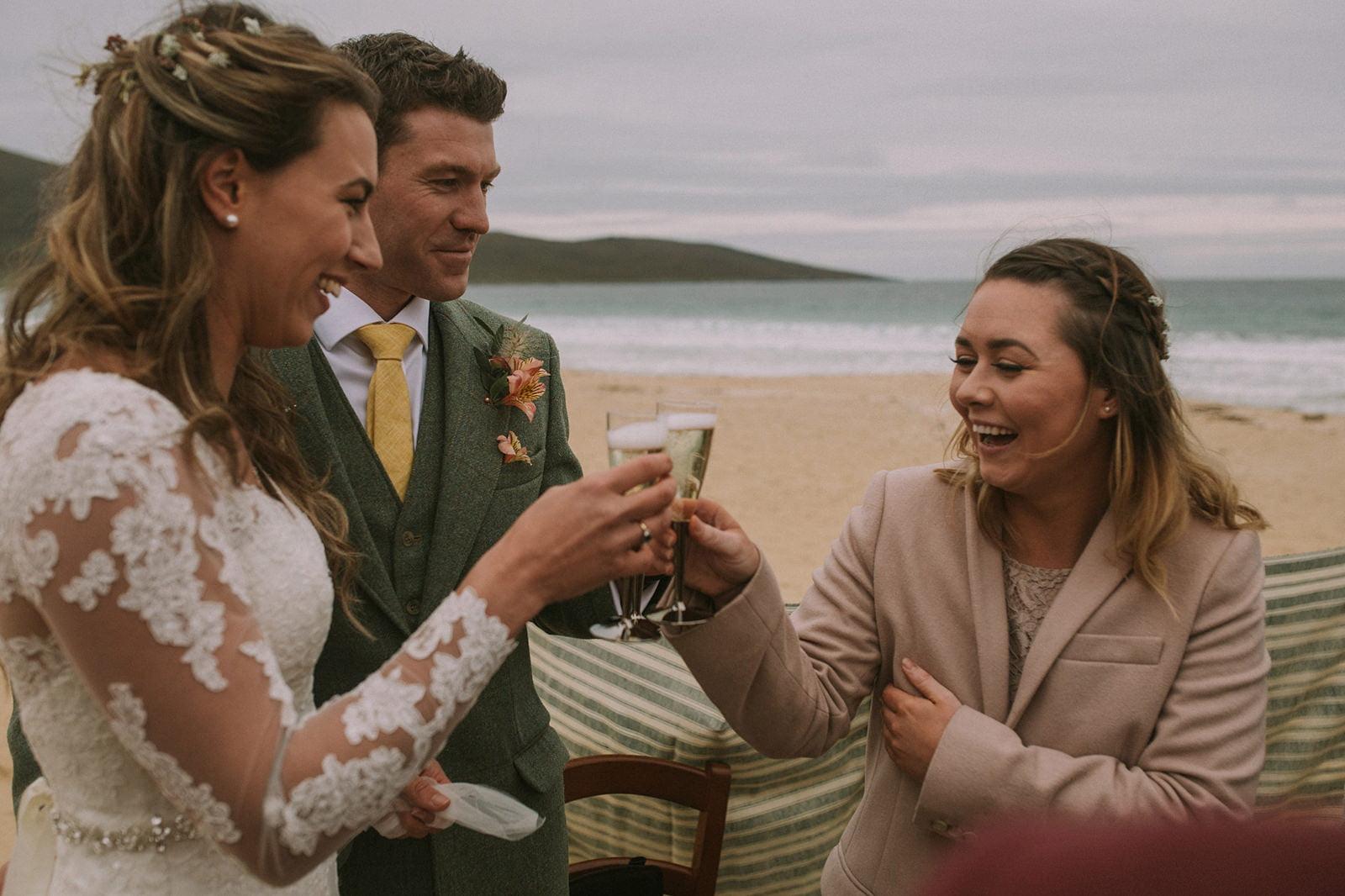 drinks scottish beach wedding