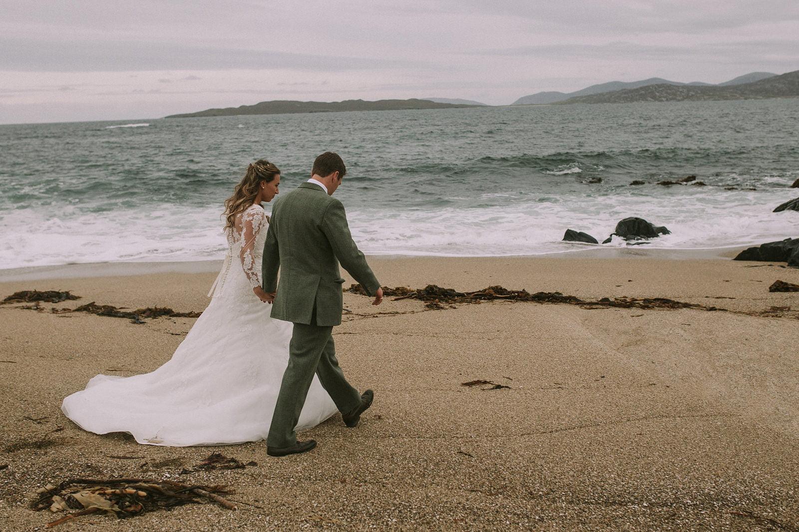 isle harris beach wedding