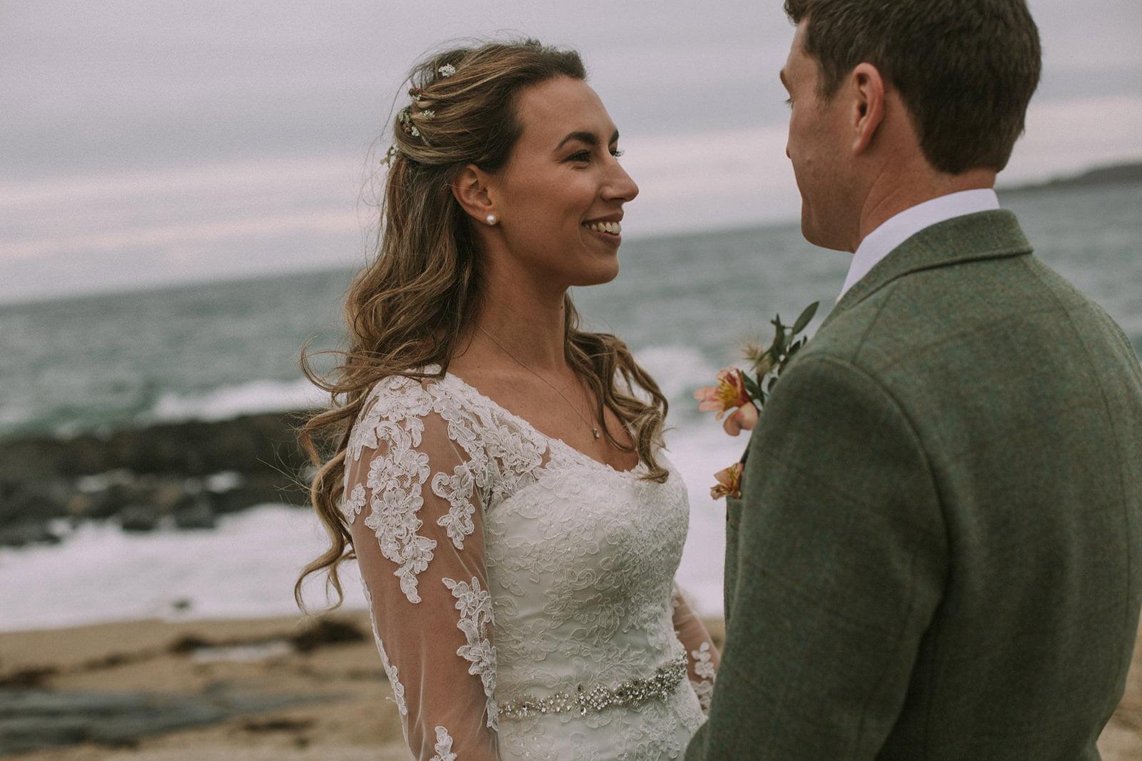 isle harris beach wedding photography