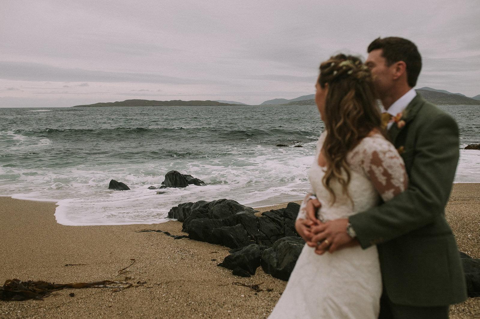 isle harris beach wedding photographer