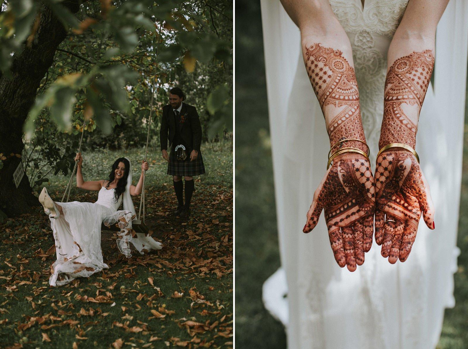 forest wedding photography scotland