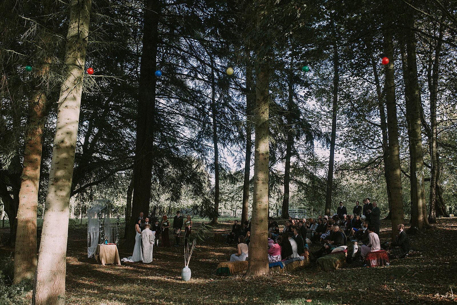 scotland woodland wedding